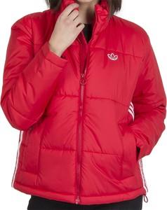 Czerwona kurtka Adidas z polaru w sportowym stylu