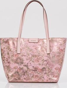 aba7b1109be71 Różowa torebka Monnari w stylu boho duża ze skóry ekologicznej