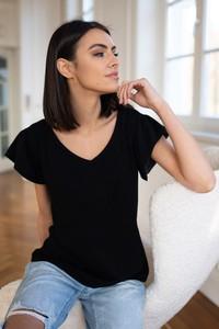 Czarna bluzka Popatu z bawełny