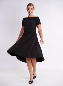Czarna sukienka Metafora midi