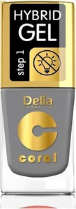 Delia Cosmetics, Coral Hybrid Gel, emalia do paznokci, nr 59 stalowy, 11 ml