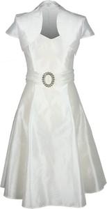 Sukienka Fokus z krótkim rękawem midi rozkloszowana