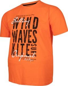T-shirt Bigsize z bawełny w młodzieżowym stylu z krótkim rękawem