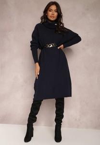Sukienka Renee midi w stylu casual z dzianiny