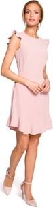 Sukienka MOE bez rękawów w stylu casual z okrągłym dekoltem