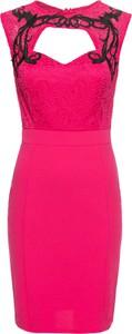 Różowa sukienka bonprix BODYFLIRT boutique ołówkowa