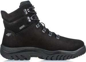 Czarne buty trekkingowe 4F