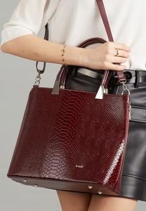 Czerwona torebka Rovicky ze skóry ekologicznej do ręki