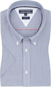 Koszula Tommy Hilfiger z krótkim rękawem z kołnierzykiem button down
