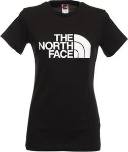 Czarny t-shirt The North Face z bawełny z krótkim rękawem