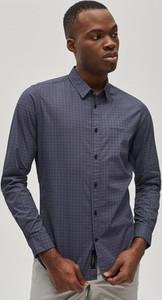 Granatowa koszula Diverse z bawełny