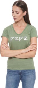 T-shirt Pepe Jeans w młodzieżowym stylu z krótkim rękawem