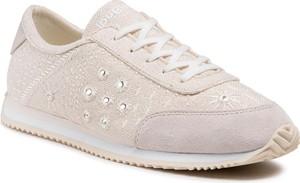 Buty sportowe Desigual w sportowym stylu z płaską podeszwą