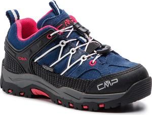 Niebieskie buty trekkingowe dziecięce CMP z zamszu sznurowane