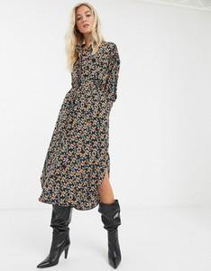 Sukienka Topshop midi z długim rękawem szmizjerka