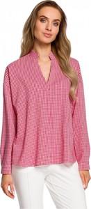 Czerwona bluzka MOE z długim rękawem