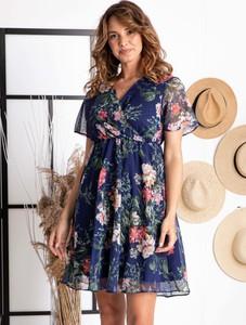 Sukienka Grandio mini z szyfonu