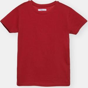 Czerwona koszulka dziecięca Sinsay dla chłopców z krótkim rękawem