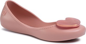Różowe baleriny eobuwie.pl w stylu casual z płaską podeszwą