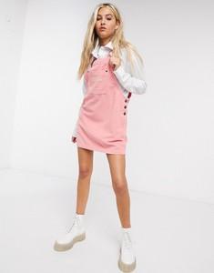 Różowa sukienka Kickers ze sztruksu mini