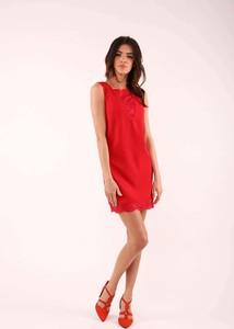 Czerwona sukienka Nommo bez rękawów