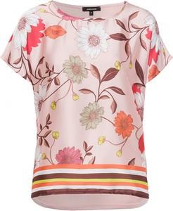Różowa bluzka More & More z krótkim rękawem