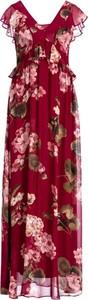 Czerwona sukienka Twinset maxi w stylu casual z krótkim rękawem