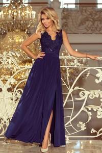 5cde7adc68 Sukienka NUMOCO z tkaniny z długim rękawem z dekoltem w kształcie litery v