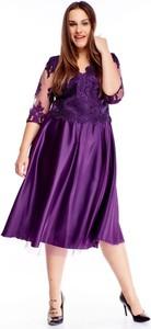 Sukienka TAGLESS z dekoltem w kształcie litery v dla puszystych z tiulu