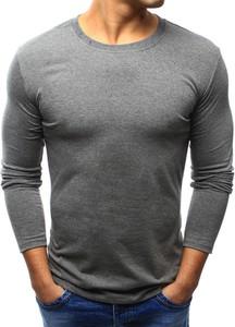 Szara koszulka z długim rękawem dstreet bez wzorów z długim rękawem