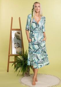 Sukienka Key z dzianiny z dekoltem w kształcie litery v