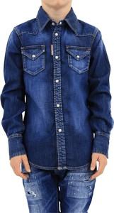 Granatowa koszula dziecięca Dsquared2 dla chłopców
