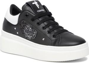 Sneakersy Togoshi na platformie sznurowane