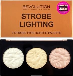 Makeup Revolution, Strobe Lighting Palette, rozświetlacze do twarzy, 15g