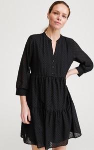 Sukienka Reserved z tkaniny mini z długim rękawem