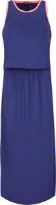 Niebieska sukienka Emporio Armani bez rękawów z okrągłym dekoltem