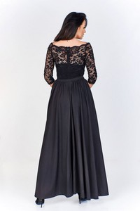 Granatowa sukienka Nubile maxi