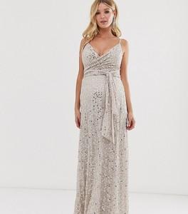 Złota sukienka Asos
