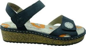 Zielone sandały Rieker w stylu casual