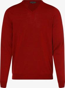 Czerwony sweter Finshley & Harding z dzianiny