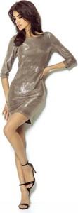 Sukienka Ivon dopasowana mini z okrągłym dekoltem