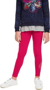 Czerwone legginsy dziecięce Desigual