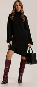Czarna sukienka Renee z golfem mini w stylu casual