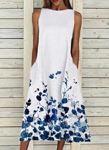 Sukienka Cikelly z okrągłym dekoltem maxi bez rękawów