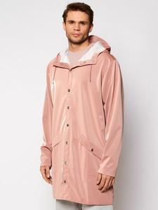 Różowa kurtka Rains w stylu casual