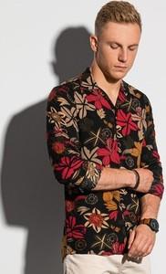 Koszula Ombre z klasycznym kołnierzykiem w młodzieżowym stylu