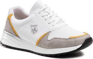 Buty sportowe Rieker w sportowym stylu sznurowane z płaską podeszwą