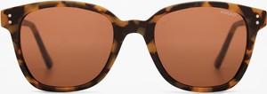 Brązowe okulary damskie Komono