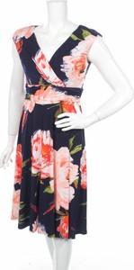 Sukienka Ronni Nicole koszulowa z dekoltem w kształcie litery v bez rękawów