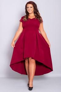 Sukienka KARKO dla puszystych z krótkim rękawem maxi